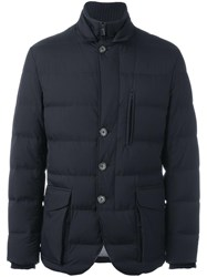 Loro Piana Quilted Padded Jacket Blue