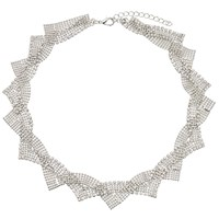 John Lewis Twist Faux Pearl Statement Collar Necklace Silver