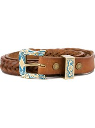 Htc Hollywood Trading Company Buckle Belt Brown