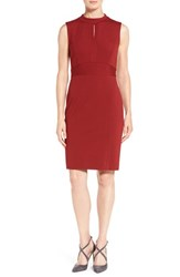 Classiques Entierr Women's Entier Seamed Italian Ponte Sheath Dress Red Sun