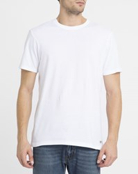 Element White Crew Round Neck T Shirt