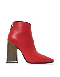 Emilio Pucci Cherry Red Leather Ankle Boot