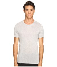 Atm Anthony Thomas Melillo Modal Crew Neck T Shirt Heather Grey Men's T Shirt Gray