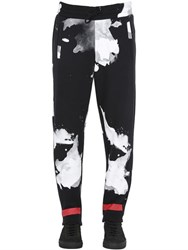 Off White Liquid Spots Cotton Jogging Pants
