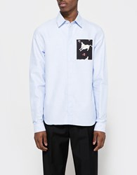 J.W.Anderson Patch Pocket Classic Fit Shirt Baby Blue