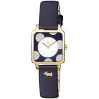 Radley Women's Rochester Square Leather Strap Watch Navy Multi