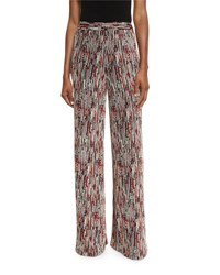 Alice Olivia Athena Super Flare Wide Leg Pants Multi Colors