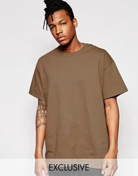 Reclaimed Vintage Oversized T Shirt Brown