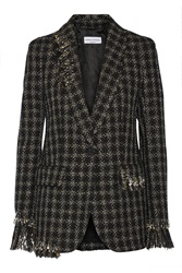 Sonia Rykiel Embellished Metallic Tweed Blazer