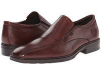 Ecco Illinois Slip On Cognac Men's Slip On Dress Shoes Tan
