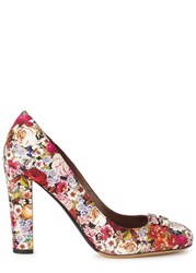 Tabitha Simmons Polly Floral Print Leather Pumps Multicoloured