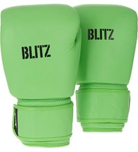 Blitz Standard Leather Boxing Gloves Neon Green