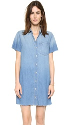 Mother Shortsleeve Frenchie Fray Dress Cut And Run