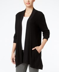 Styleandco. Style Co. Open Front Waffle Knit Cardigan Only At Macy's Deep Black