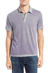 John Varvatos Men's Star Usa Burnout Jersey Polo Iris