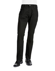 Bugatti Cordoba Mini Checked Pants Black
