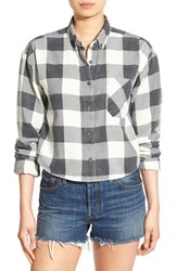 Chloe And Katie Women's Plaid Crop Shirt