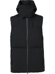 Y 3 Hooded Down Vest Black
