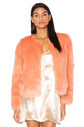 Unreal Fur Dream Faux Jacket Peach