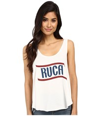 Rvca Flag 4Th Of July Tank Top Vintage White Women's Sleeveless Beige