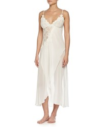Jonquil Embroidered Mesh Lace Long Gown Ivory Women's