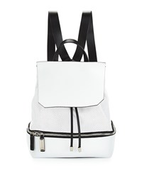Cnc Costume National Perforated Leather Backpack White Costume National