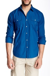 Micros Blind Textured Woven Shirt Blue
