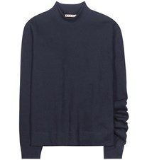 Marni Asymmetrical Cotton Sweatshirt Blue