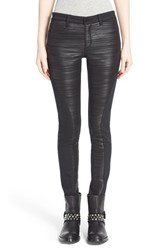 Women's Superfine 'Tex' Pleated Glossy Inset Skinny Jeans