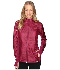 New Balance Nb Heat Hybrid Jacket Jewel Feather Print Jewel Women's Coat Pink