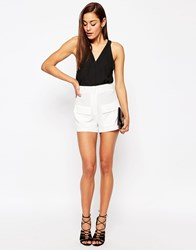 Asos Patch Pocket Woven Shorts White