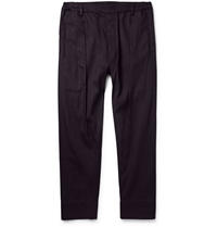Lemaire Cotton Chambray Trousers Blue