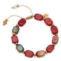 Lola Rose Angel Bracelet Red Quartz Agate