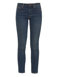 Saint Laurent High Rise Skinny Cropped Jeans
