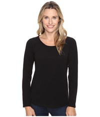 Royal Robbins Essential Tencel Crew Jet Black Women's Long Sleeve Pullover