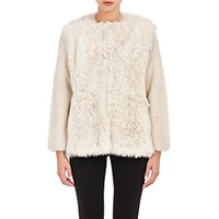 Barneys New York Women's Mixed Fur Coat Tan