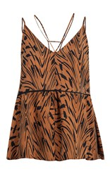 Lala Berlin Sinas Show Printed Top Brown