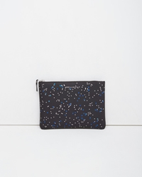 Comme Des Garcons Bright Star Zip Pouch Blue Silver