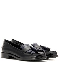 Tod's Patent Leather Loafers Black