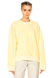 Yeezy Season 3 Stretch French Terry Rib Crewneck In Yellow
