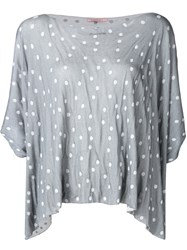 Transit Dotted Oversized T Shirt Grey
