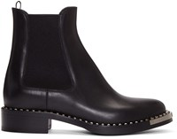 Miu Miu Black Leather Chelsea Boots