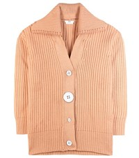 Edun Merino Wool Cardigan Orange