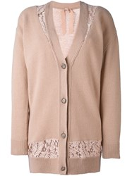 N 21 No21 Long Cardigan Nude And Neutrals