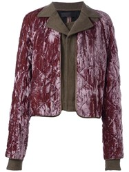 Haider Ackermann Quilted Overlay Cropped Jacket Brown