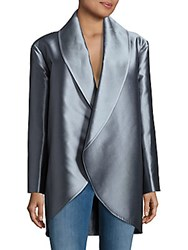 Pauw Solid Open Front Jacket Blue Grey