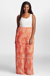 Mynt 1792 Pleat Georgette Maxi Skirt Plus Size Mandarin Boucle