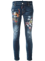 Dsquared2 'Cigarette' Jeans Blue