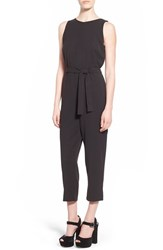 Junior Women's Glamorous Belted Jumpsuit