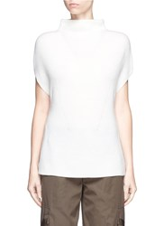 Vince Wool Cashmere Sleeveless Sweater White